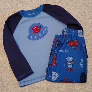 Carter's Pajamas - Robot 3T long sleeve Fuzzy pajamas pjs